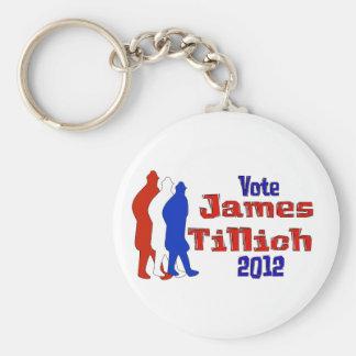 Vote For Tillich Keychain