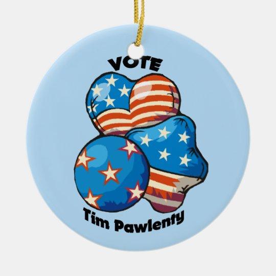 Vote for Tim Pawlenty Ceramic Ornament
