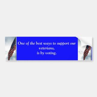 Vote for veterians bumper sticker