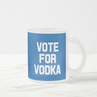 Vote for Vodka funny saying frost mug