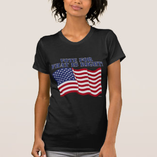 VOTE FOR WHAT IS RIGHT! T-Shirt