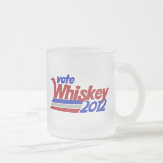 Vote for Whiskey 2012 election humor Frosted Glass Coffee Mug