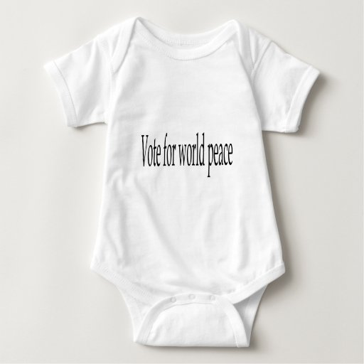 Vote for world peace baby bodysuit