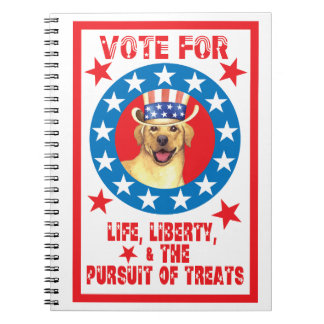 Vote for Yellow Lab Notebook