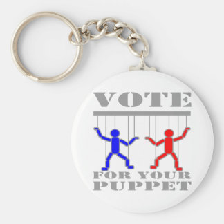 Vote For Your Puppet Keychain