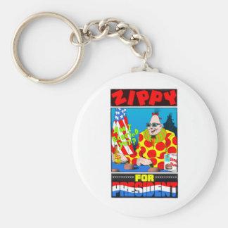 Vote For Zippy Basic Round Button Keychain