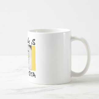 vote gangsta white coffee mug