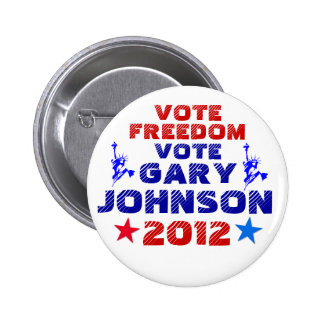 Vote Gary Johnson 2012 Buttons