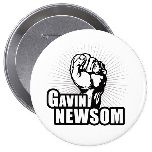 Vote Gavin Newsom Pins