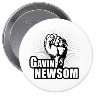 Vote Gavin Newsom Pinback Button