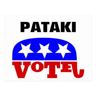 Vote George Pataki Republican Elephant Postcard