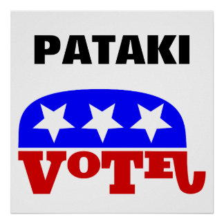 Vote George Pataki Republican Elephant Poster