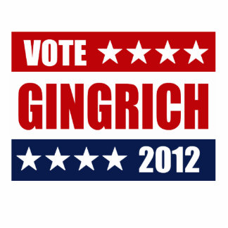 VOTE GINGRICH 2012 - ACRYLIC CUT OUT