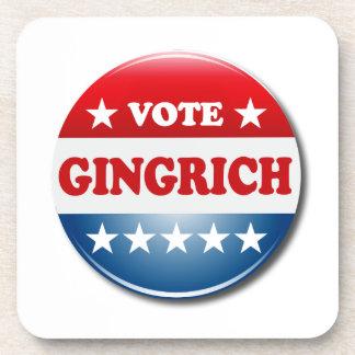 VOTE GINGRICH BEVERAGE COASTERS