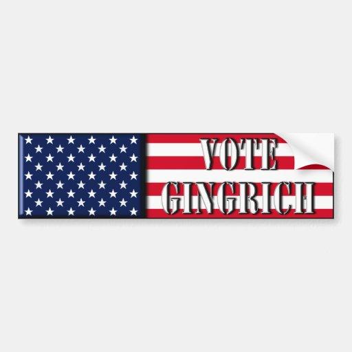 Vote Gingrich - Newt Gingrich bumper sticker