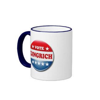 VOTE GINGRICH RINGER COFFEE MUG