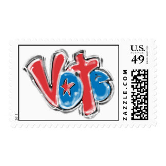 Vote Graffiti Illustration Postage
