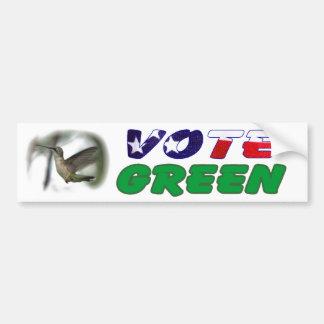 Vote Green Hummingbird Bumper Sticker Car Bumper Sticker