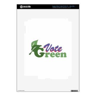Vote Green iPad 3 Skin