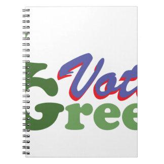 Vote Green Notebook