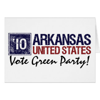 Vote Green Party in 2010 – Vintage Arkansas Card