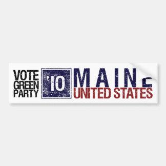 Vote Green Party in 2010 – Vintage Maine Bumper Sticker