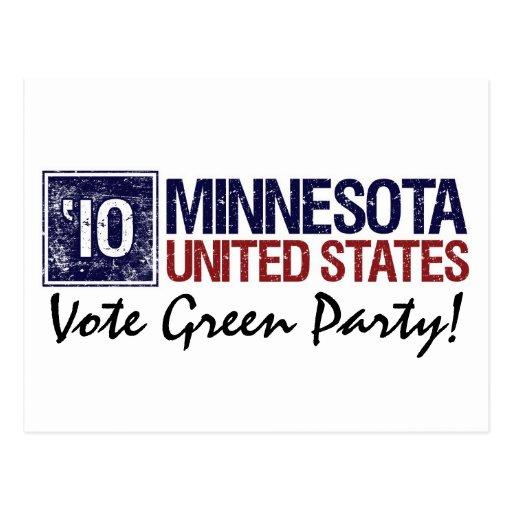 Vote Green Party in 2010 – Vintage Minnesota Postcard
