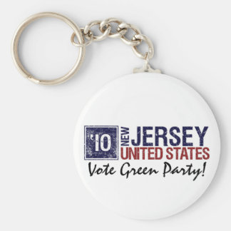 Vote Green Party in 2010 – Vintage New Jersey Key Chain