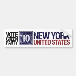 Vote Green Party in 2010 – Vintage New York Bumper Sticker