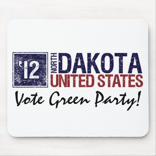 Vote Green Party in 2010 – Vintage North Dakota Mousepad