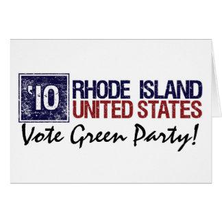 Vote Green Party in 2010 – Vintage Rhode Island Card