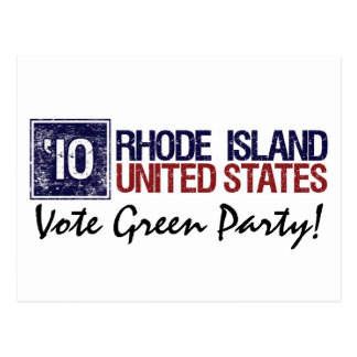 Vote Green Party in 2010 – Vintage Rhode Island Post Card