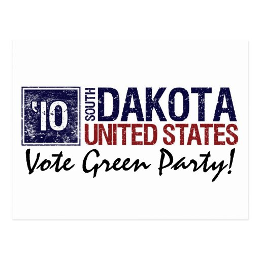 Vote Green Party in 2010 – Vintage South Dakota Post Card