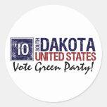 Vote Green Party in 2010 – Vintage South Dakota Sticker