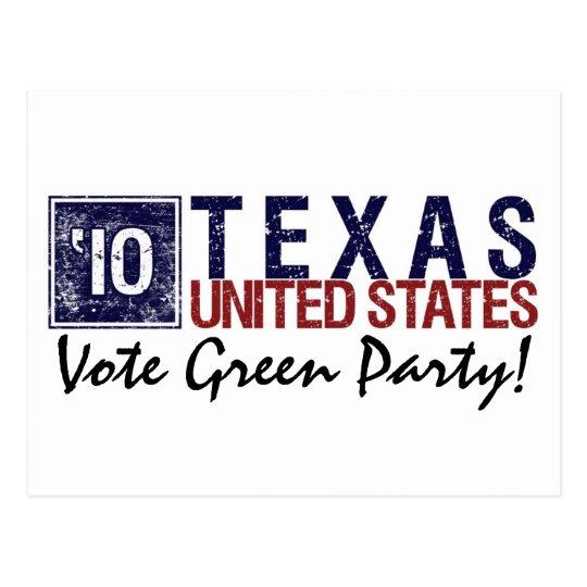 Vote Green Party in 2010 – Vintage Texas Postcard