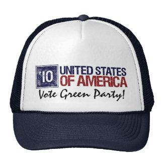 Vote Green Party in 2010 – Vintage United States Trucker Hat