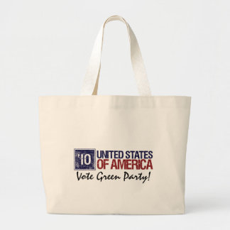 Vote Green Party in 2010 – Vintage United States Large Tote Bag