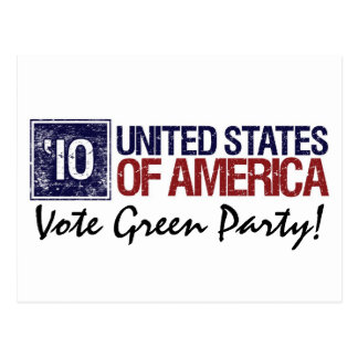 Vote Green Party in 2010 – Vintage United States Postcard