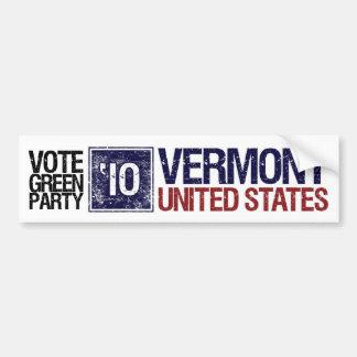 Vote Green Party in 2010 – Vintage Vermont Bumper Sticker