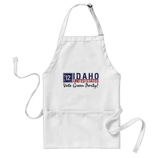 Vote Green Party in 2012 – Vintage Idaho Adult Apron