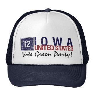 Vote Green Party in 2012 – Vintage Iowa Trucker Hat