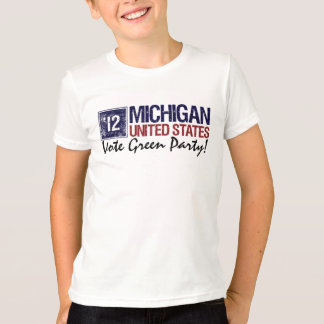 Vote Green Party in 2012 – Vintage Michigan T-Shirt