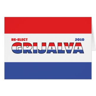Vote Grijalva 2010 Elections Red White and Blue Card