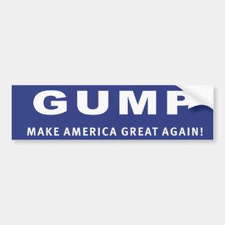 Vote Gump! Donald Trump election sticker