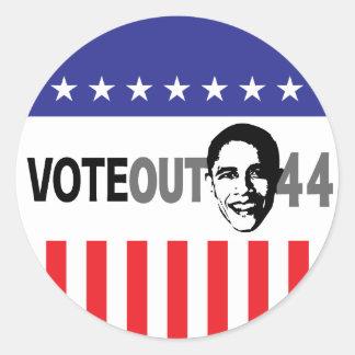 Vote hacia fuera 44 - Obama Etiquetas Redondas