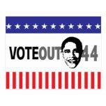 Vote hacia fuera 44 - Obama Tarjeta Postal