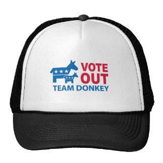 Vote hacia fuera el burro del equipo gorro