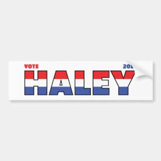 Vote Haley 2010 Elections Red White and Blue Bumper Sticker