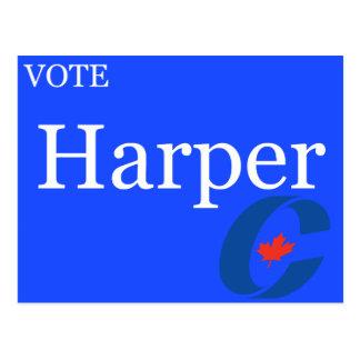 Vote Harper Conservative Party Logo Postcard