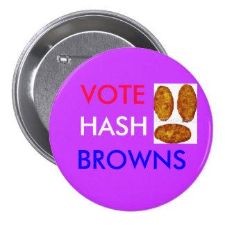 Vote Hash Browns Pinback Button